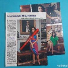 Coleccionismo de Revista Diez Minutos: ROCIO ARROSPIDE LOPEZ LETONA - ENTREVISTA - RECORTE 3 PAG - AÑO 1986. Lote 263097700