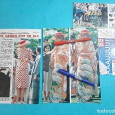Coleccionismo de Revista Diez Minutos: DIANA GALES LADY DI- GEISHA POR UN DIA Y + OTROS TRAJES QUE LUCIO - RECORTE 5 PAG - AÑO 1986. Lote 263097830