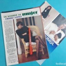 Coleccionismo de Revista Diez Minutos: CHARO LOPEZ - ENTREVISTA - RECORTE 5 PAG - AÑO 1986. Lote 263097875
