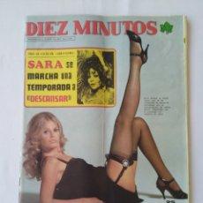 Coleccionismo de Revista Diez Minutos: REVISTA DIEZ MINUTOS NUM.1220,SARA MONTIEL, BRITT EKLAND. Lote 264496544
