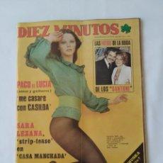 Coleccionismo de Revista Diez Minutos: REVISTA DIEZ MINUTOS NUM.1229,LOS SANTONI BODA,SARA LEZANA. Lote 264498614