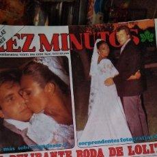 Coleccionismo de Revista Diez Minutos: REVISTA DIEZ MINUTOS 1672 AÑO 1983 BODA LOLITA FLORES, NADIUSKA, CHICHO, PEPA FLORES MARISOL. Lote 266454978