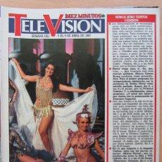 Collectionnisme de Magazine Diez Minutos: RECORTE REVISTA DIEZ MINUTOS N.º 1859 1987 UN, DOS, TRES...SILVIA MARSÓ. Lote 269618923