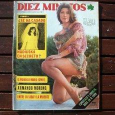 Coleccionismo de Revista Diez Minutos: DIEZ MINUTOS / CLAUDIA GRAVY, MICHAEL LANDON, ROCIO DURCAL, CARMEN CERVERA, LORETA TOVAR. Lote 270138633