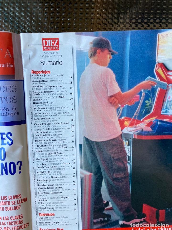 Coleccionismo de Revista Diez Minutos: DIEZ MINUTOS - Nº 2446 - 10-7- 1998 / BODA RELIGIOSA DE CAMILO JOSE CELA Y MARINA CASTAÑO - Foto 2 - 39507515