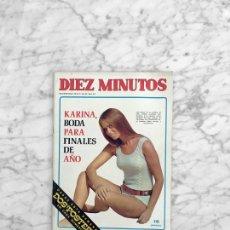 Coleccionismo de Revista Diez Minutos: DIEZ MINUTOS - 1970 - RAPHAEL, KARINA, ISABELLA ROSSELLINI, TERESA GIMPERA, PACO VALLADARES. Lote 277736403
