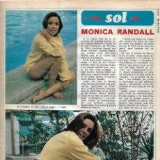 Coleccionismo de Revista Diez Minutos: MÓNICA RANDALL: REPORTAJE GRÁFICO DE LOS AÑOS 70. Lote 282907048