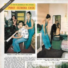 Coleccionismo de Revista Diez Minutos: PERET: GRAN REPORTAJE GRÁFICO. AÑOS 70. Lote 282907373