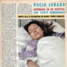 Coleccionismo de Revista Diez Minutos: GRAN REPORTAJE GRÁFICO DE ROCÍO JURADO EN EL HOSPITAL. AÑOS 70. Lote 282907848