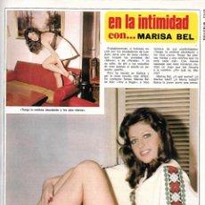 Coleccionismo de Revista Diez Minutos: MARISA BEL. GRAN REPORTAJE GRÁFICO. AÑOS 70. Lote 282908318