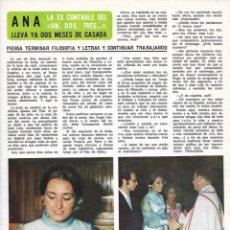 Coleccionismo de Revista Diez Minutos: ANA ( UN, DOS, TRES...): ENTREVISTA Y REPORTAJE GRÁFICO. AÑOS 70. Lote 282908638