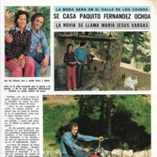 Coleccionismo de Revista Diez Minutos: PAQUITO FERNÁNDEZ OCHOA: ENTREVISTA Y REPORTAJE GRÁFICO. AÑOS 70. Lote 282908688