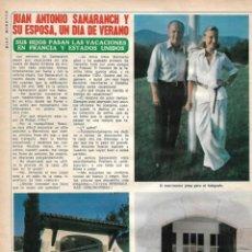 Coleccionismo de Revista Diez Minutos: JUAN ANTONIO SAMARANCH Y BIBÍ SALISACHS: ENTREVISTA Y REPORTAJE GRÁFICO. AÑOS 70. Lote 282909063
