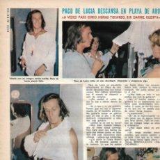Coleccionismo de Revista Diez Minutos: PACO DE LUCÍA: ENTREVISTA Y REPORTAJE GRÁFICO. AÑOS 70. Lote 282909198