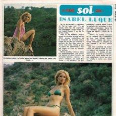 Coleccionismo de Revista Diez Minutos: ISABEL LUQUE: GRAN REPORTAJE GRÁFICO. AÑOS 70. Lote 282909318