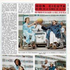 Coleccionismo de Revista Diez Minutos: VALENTÍN TORNOS ( DON CICUTA EN UN, DOS, TRES...). REPORTAJE GRÁFICO. AÑOS 70. Lote 283006473