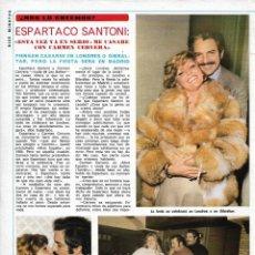 Coleccionismo de Revista Diez Minutos: ESPARTACO SANTONI Y TITA CERVERA: ENTREVISTA Y REPORTAJE GRÁFICO. AÑOS 70. Lote 283006938