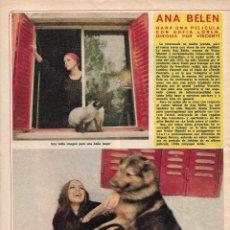Coleccionismo de Revista Diez Minutos: ANA BELÉN: REPORTAJE GRÁFICO. AÑOS 70. Lote 283039778