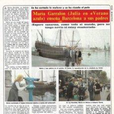 Coleccionismo de Revista Diez Minutos: MARÍA GARRALÓN ( VERANO AZUL ): ENTREVISTA Y REPORTAJE GRÁFICO. 1982. Lote 283202883