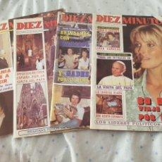 Collectionnisme de Magazine Diez Minutos: LOTE 4 REVISTAS DIEZ MNUTOS - AÑO 1983. Lote 285398683