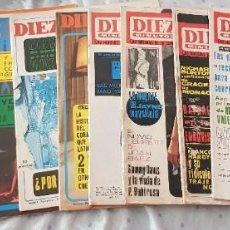 Collectionnisme de Magazine Diez Minutos: LOTE 11 REVISTAS DIEZ MINUTOS - AÑOS 1966 A 1968. Lote 285400548