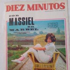 "Collectionnisme de Magazine Diez Minutos: REVISTA DIEZ MINUTOS NUM.874,MASSIEL, SHARON TATE,""GUAPA DE MADRID CON GAFAS 68"". Lote 287463813"