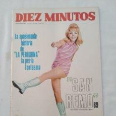 Collezionismo di Rivista Diez Minutos: REVISTA DIEZ MINUTOS NUM.912,LOS BEATLES, FESTIVAL DE SAN REMO,SALOME EUROVISIÓN. Lote 287475718