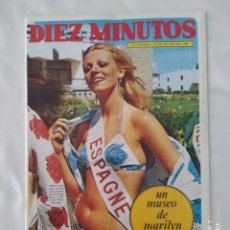 Coleccionismo de Revista Diez Minutos: REVISTA DIEZ MINUTOS NUM.1088,MISS EUROPA 72, MARILYN MONROE, MASSIEL,RINGO STARR. Lote 287838498