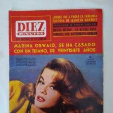 Coleccionismo de Revista Diez Minutos: REVISTA DIEZ MINUTOS NUM.720, SALVADOR DALI, MARILYN MONROE,LUIS MARIANO. Lote 287903228
