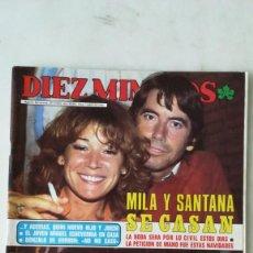 Coleccionismo de Revista Diez Minutos: DIEZ MINUTOS MILA Y SANTANA, IÑIGO Y PILAR, QUINI, PAMELA SUE, DINASTÍA. 1983. Lote 288501743