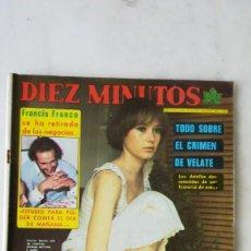 Coleccionismo de Revista Diez Minutos: DIEZ MINUTOS YVONNE SENTÍS, PUNKS, CAMILO SESTO. 1977. Lote 288502228