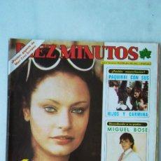 Coleccionismo de Revista Diez Minutos: DIEZ MINUTOS NADIUSKA, DALI, MIGUEL BOSE, PAQUIRRI. 1980. Lote 288502638