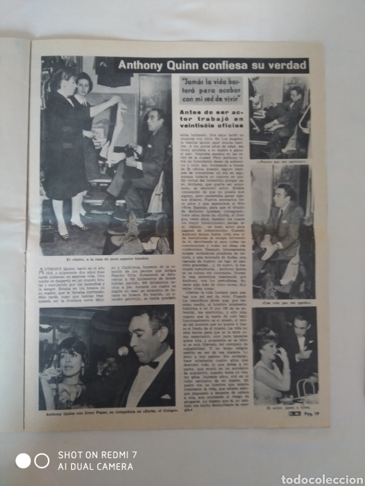 Coleccionismo de Revista Diez Minutos: Revista Diez minutos num.715, feria de primavera, Marlon Brando, Anthony Quinn - Foto 6 - 288514958