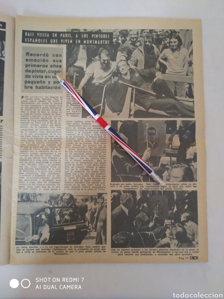 Coleccionismo de Revista Diez Minutos: Revista Diez minutos num.722, Salvador Dalí, Anthony Quinn en Costa del Sol, Juanita Reina - Foto 2 - 288529903
