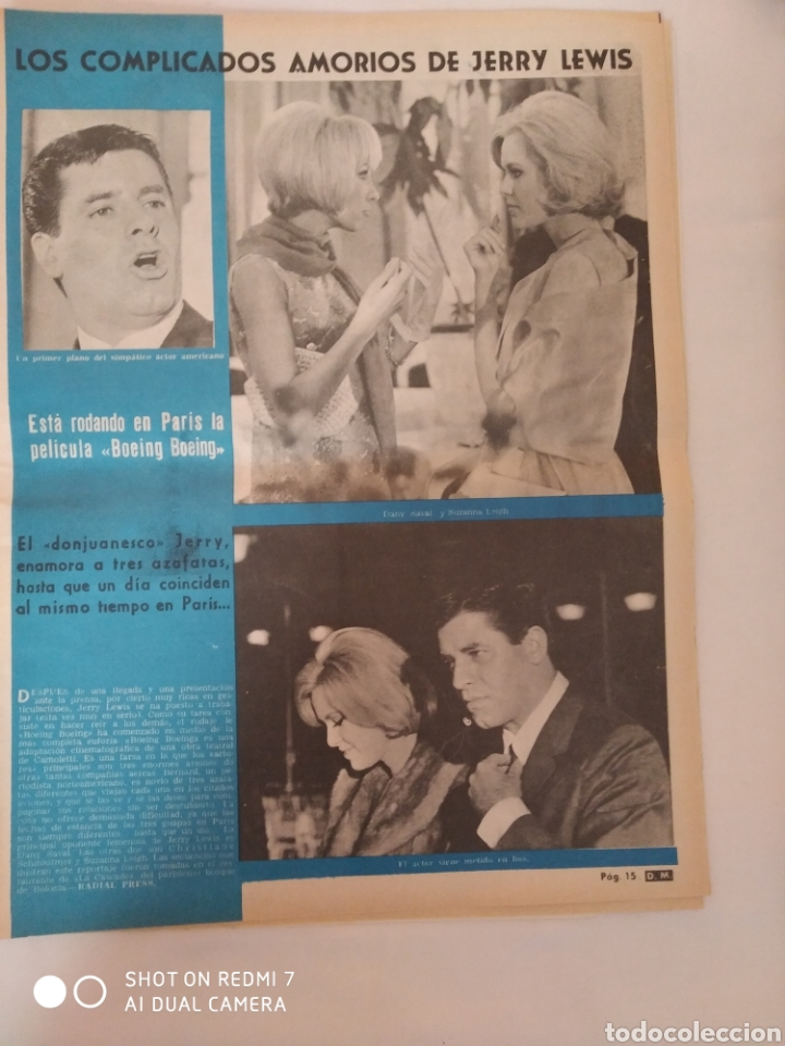 Coleccionismo de Revista Diez Minutos: Revista Diez minutos num.722, Salvador Dalí, Anthony Quinn en Costa del Sol, Juanita Reina - Foto 4 - 288529903