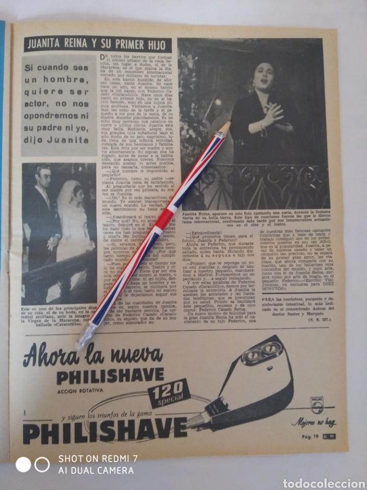 Coleccionismo de Revista Diez Minutos: Revista Diez minutos num.722, Salvador Dalí, Anthony Quinn en Costa del Sol, Juanita Reina - Foto 5 - 288529903