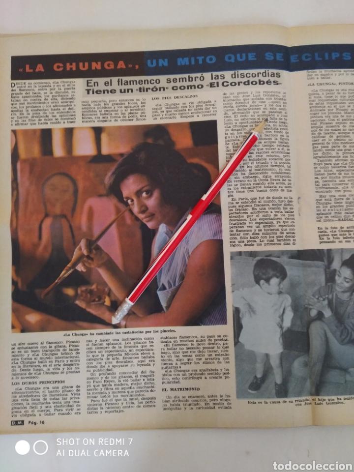 "Coleccionismo de Revista Diez Minutos: Revista Diez minutos num.719,""Miss España 65"",La Chunga, Marisol baile flamenco - Foto 3 - 288531058"