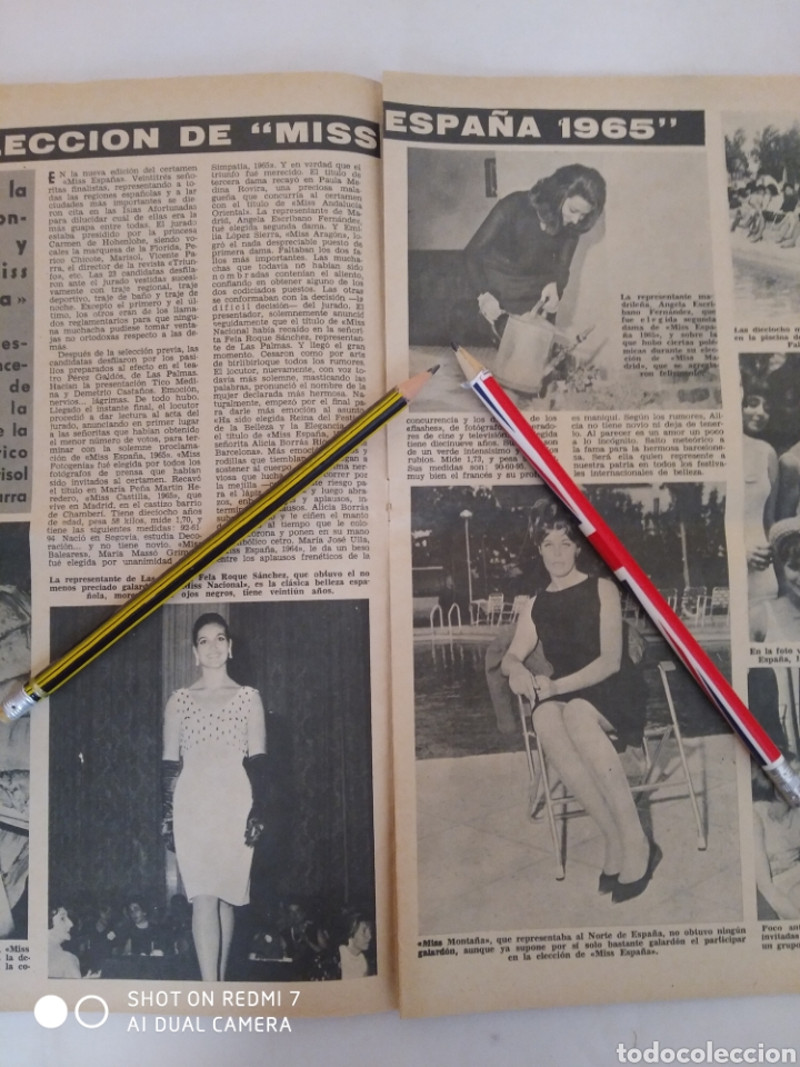 "Coleccionismo de Revista Diez Minutos: Revista Diez minutos num.719,""Miss España 65"",La Chunga, Marisol baile flamenco - Foto 6 - 288531058"