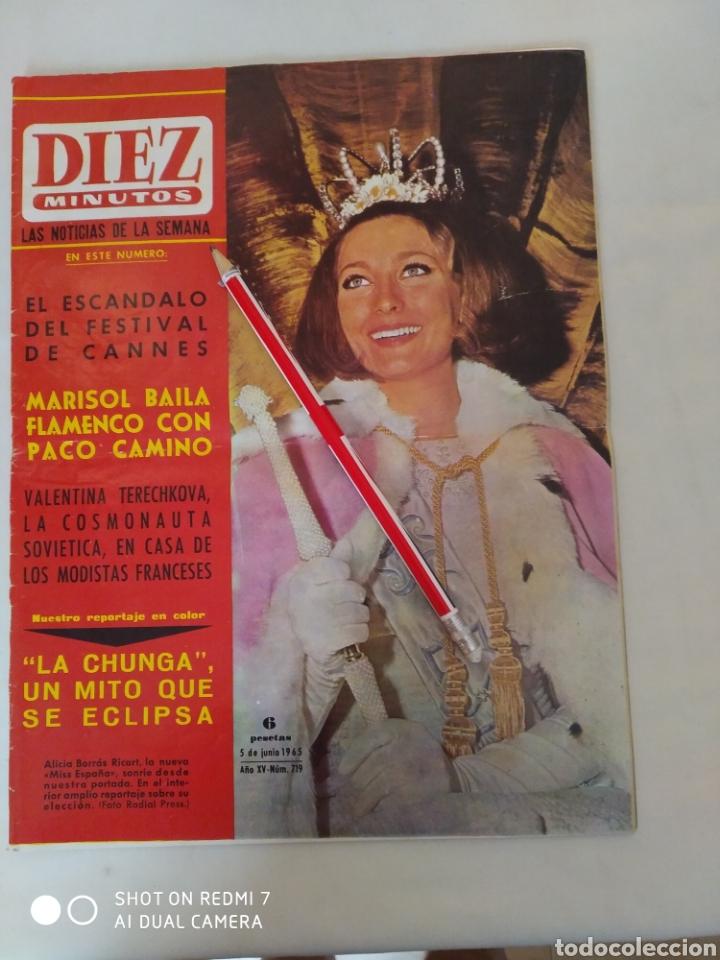 """REVISTA DIEZ MINUTOS NUM.719,""""MISS ESPAÑA 65"""",LA CHUNGA, MARISOL BAILE FLAMENCO (Coleccionismo - Revistas y Periódicos Modernos (a partir de 1.940) - Revista Diez Minutos)"""