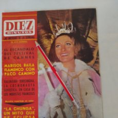"Coleccionismo de Revista Diez Minutos: REVISTA DIEZ MINUTOS NUM.719,""MISS ESPAÑA 65"",LA CHUNGA, MARISOL BAILE FLAMENCO. Lote 288531058"