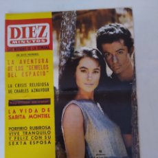 """Coleccionismo de Revista Diez Minutos: REVISTA DIEZ MINUTOS NUM.721,LA VIDA DE SARITA MONTIEL,""""MISS EUROPA""""65,LOS TOROS. Lote 288532288"""