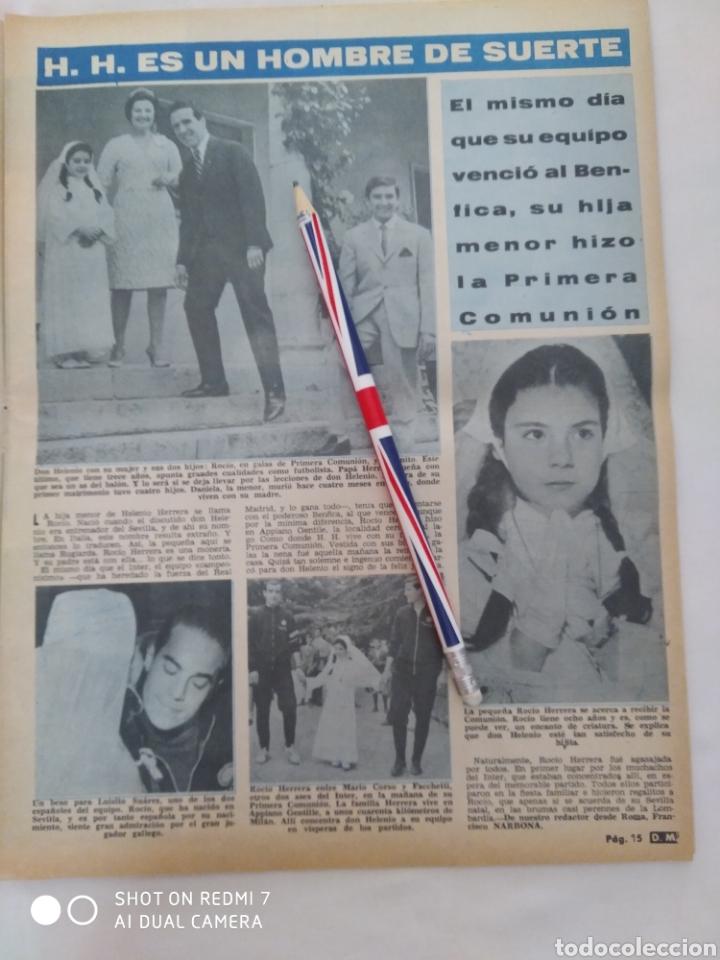Coleccionismo de Revista Diez Minutos: Revista Diez minutos num.723, Rocío Dúrcal,Helenio Herrera,James Bond - Foto 3 - 288533743