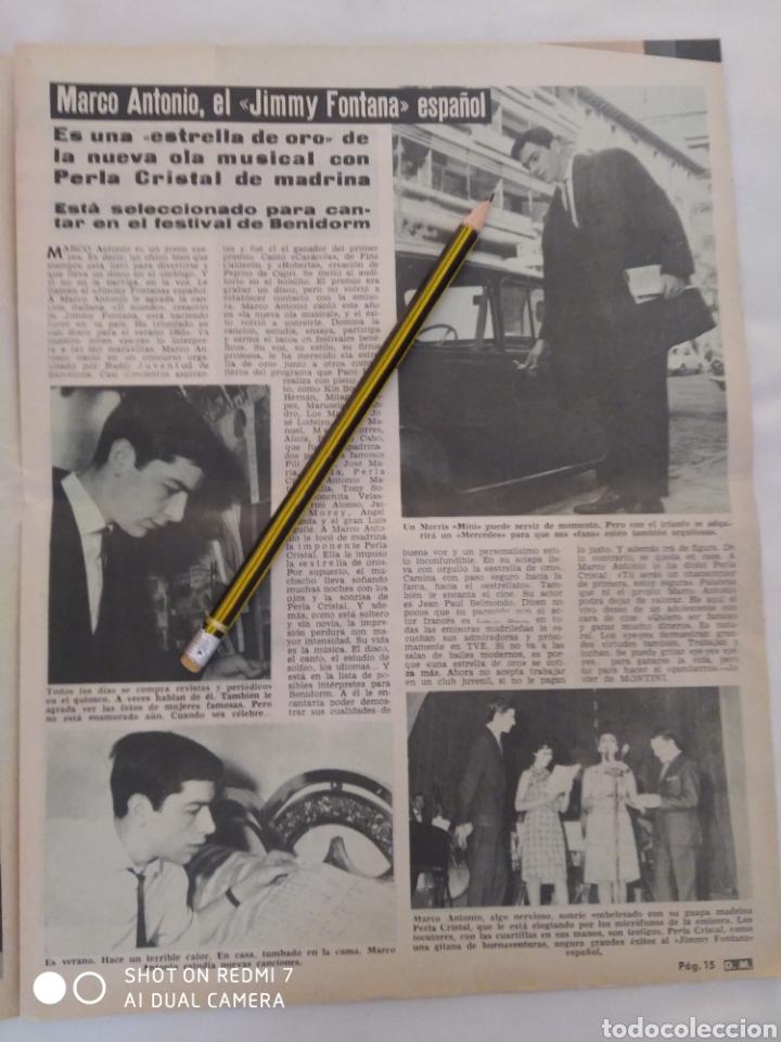 Coleccionismo de Revista Diez Minutos: Revista Diez minutos num.729, Conchita Velasco,Marco Antonio,Soledad Miranda - Foto 4 - 288537463