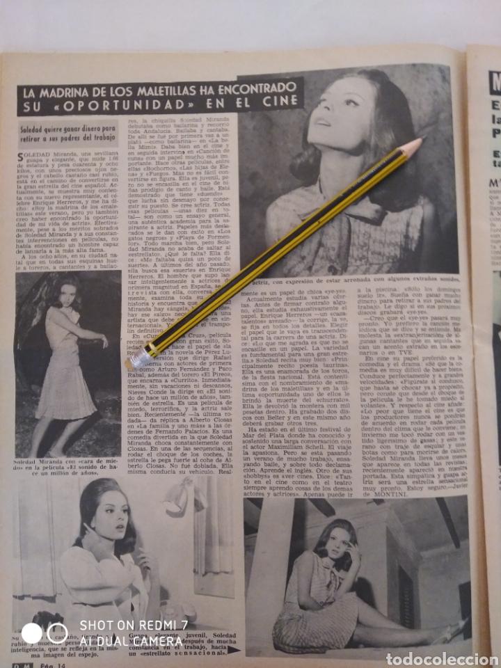 Coleccionismo de Revista Diez Minutos: Revista Diez minutos num.729, Conchita Velasco,Marco Antonio,Soledad Miranda - Foto 5 - 288537463