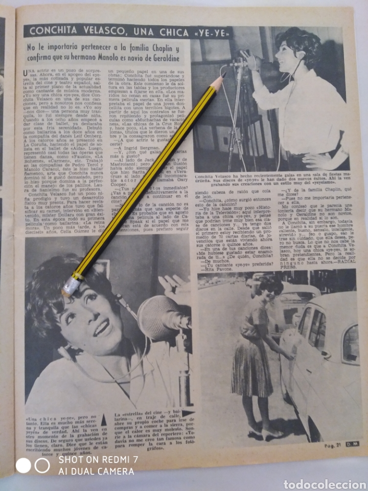 Coleccionismo de Revista Diez Minutos: Revista Diez minutos num.729, Conchita Velasco,Marco Antonio,Soledad Miranda - Foto 6 - 288537463