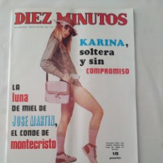 Coleccionismo de Revista Diez Minutos: REVISTA DIEZ MINUTOS NUM.1116, AGATA LYS, KARINA,PAUL GETTY,ETHEL ROJO. Lote 289243783