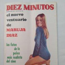 """Coleccionismo de Revista Diez Minutos: REVISTA DIEZ MINUTOS NUM.1026,MARUJA DIAZ,LOS """"OSCAR"""" DE 70, MARÍA DEL VALLE. Lote 289821973"""