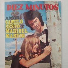 Coleccionismo de Revista Diez Minutos: REVISTA DIEZ MINUTOS NUM.1064, MARISOL,CAMILO SESTO, TONY LE BLANC, MARIANNE FAITHFULL. Lote 289823908