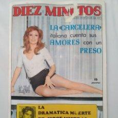 Coleccionismo de Revista Diez Minutos: REVISTA DIEZ MINUTOS NUM.1079,MICK JAGGER,JORGE MISTRAL,CAROLYN MUNRO. Lote 289836253