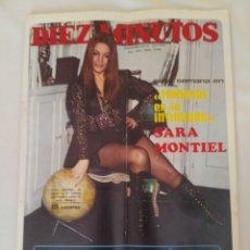 Coleccionismo de Revista Diez Minutos: REVISTA DIEZ MINUTOS NUM.1066,SARA MONTIEL,JAIME MOREY EUROVISIÓN 72, BRIGITTE BARDOT,. Lote 289867983